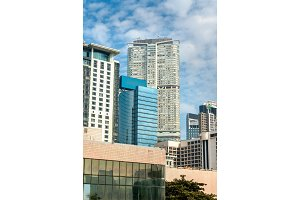 Buildings in the Kowloon district of Hong Kong, China