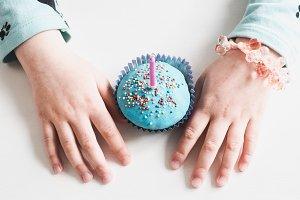 Festive, fragrant cupcake