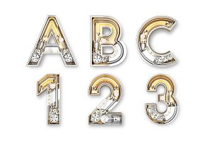 Alphabet letters from Mechanic