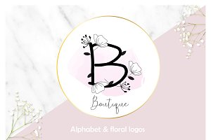 Floral Alphabet & Logos