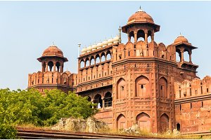 Delhi Gate of Red Fort in Delhi, India
