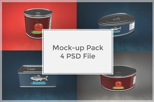 Metal Can Mock-up Pack