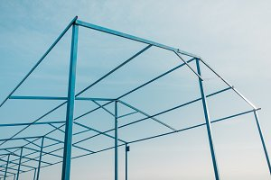 Geometric metal construction.