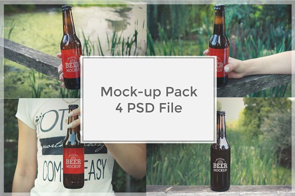 Beer Mock-up Pack#1 in Product Mockups