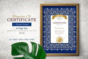 Template Of Certificate&Frame. Vol.2