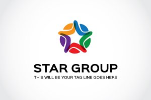 Star Group Logo Template