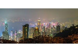 Skyline of Hong Kong from Victoria Peak