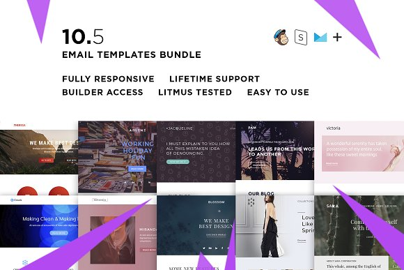 10 Email Templates Bundle V