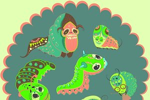 Monsters caterpillars