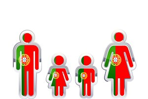 People icon with Portugal flag