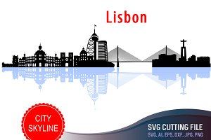 Lisbon Svg, Lisboa Cut file