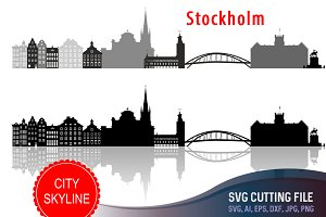 Stockholm Svg, Sweden Cut file, vect
