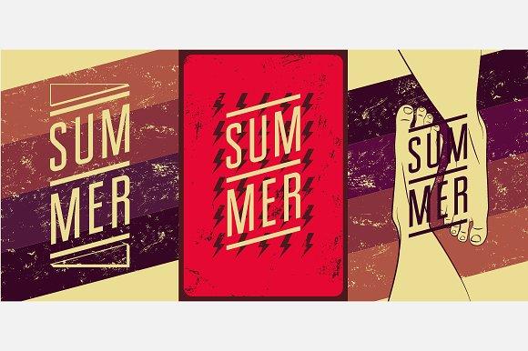 Summer Typographic Vintage Poster