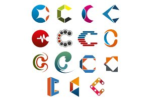 C letter icon for business corporate identity