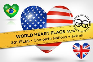 World Heart Flags