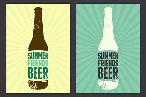 Summer Beer vintage poster.