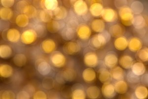3D Bokeh Background Gold