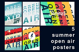 Summer festival open air poster.