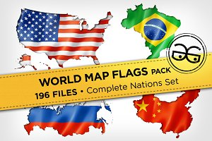 World Map Flags