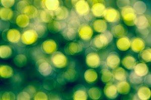 Bokeh Background green yellow