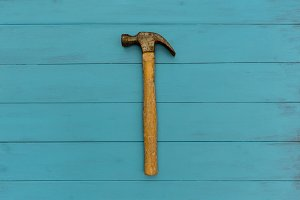 Old hammer tool