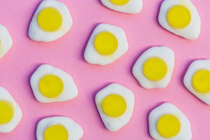 Fried egg candy sweets