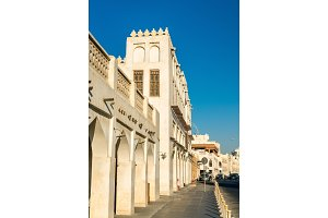Buildings at Souq Waqif in Doha, Qatar
