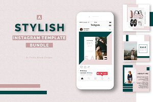 Stylish Instagram Template Bundle
