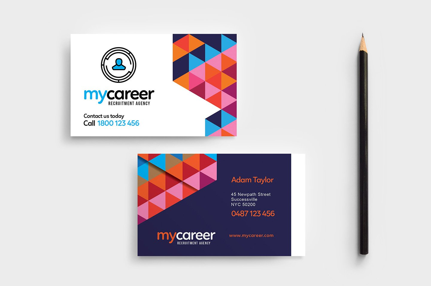 Recruitment Agency Business Card Business Card Templates