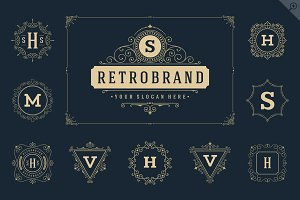 50 luxury ornaments logos & monogram