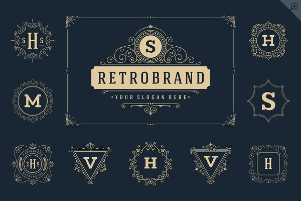 50 luxury ornaments logos & monogra…