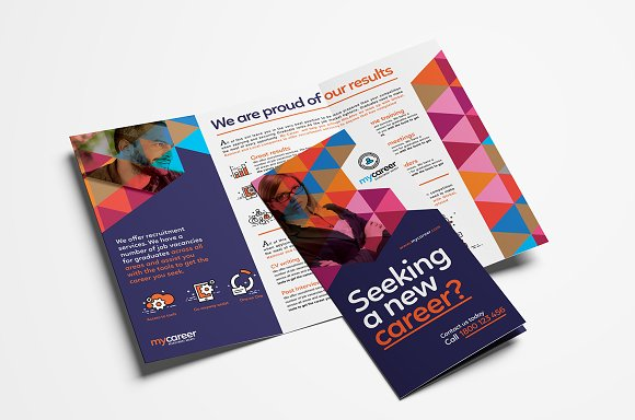 recruitment agency trifold brochure brochure templates creative