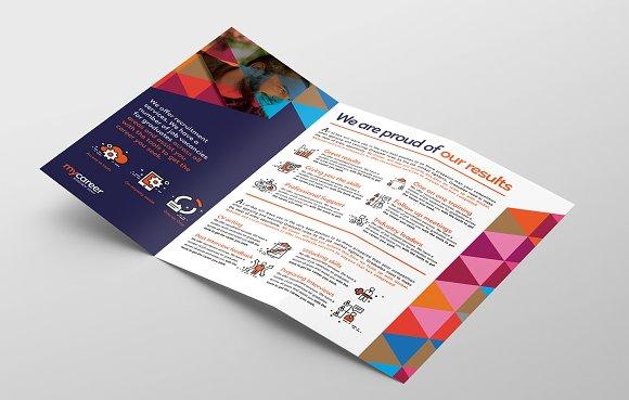 recruitment agency trifold brochure brochure templates creative market