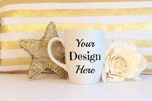 Gold Foil Theme Mug Mockup