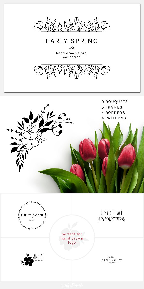 Early Spring Set Of Illustrations