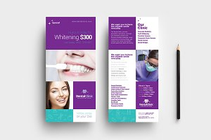 Dental Clinic DL Card Template