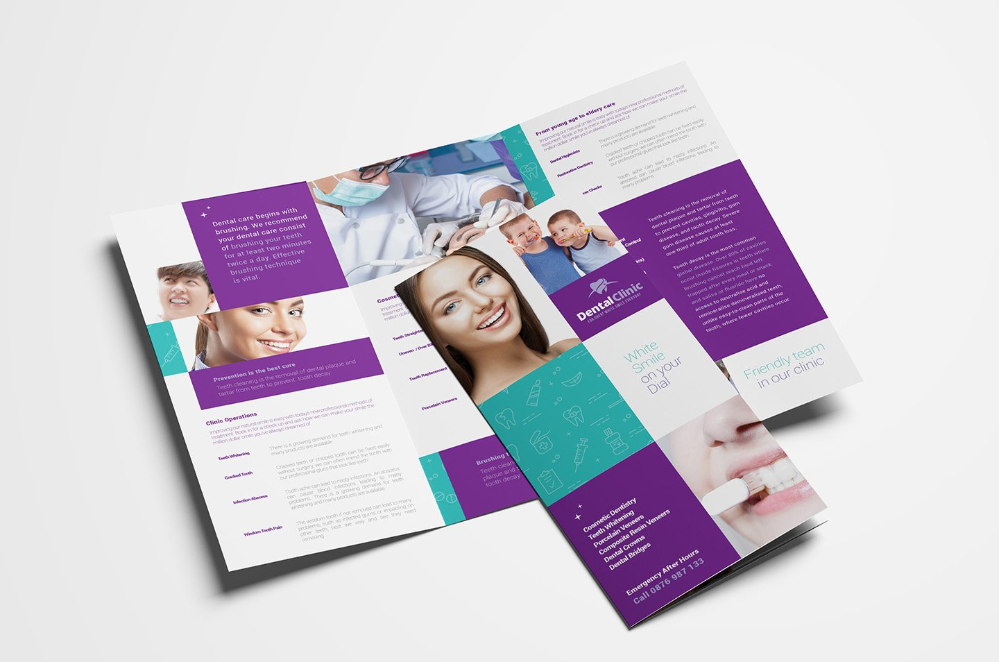 clinic brochure template - dental clinic trifold brochure brochure templates