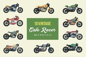 Vintage Cafe Racer Motorcycle Pack