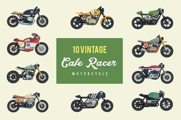Vintage Cafe Racer Motorcycle Pack