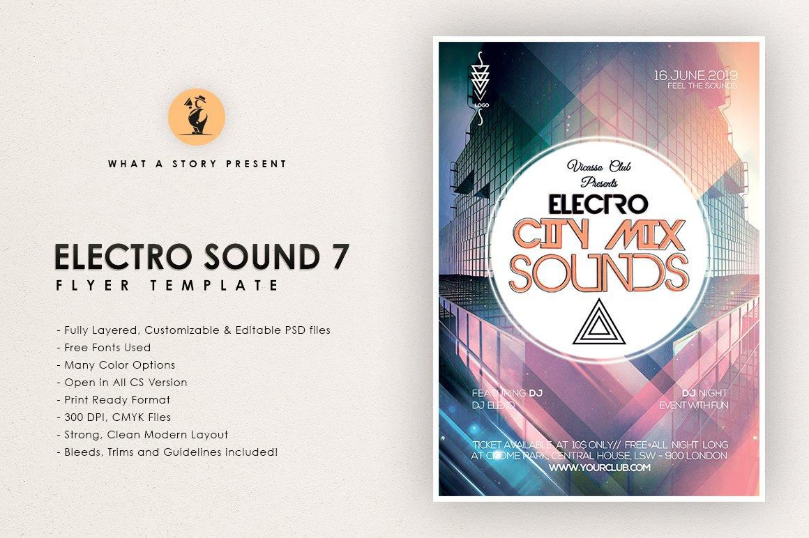 Electro Sounds 7 ~ Flyer Templates ~ Creative Market