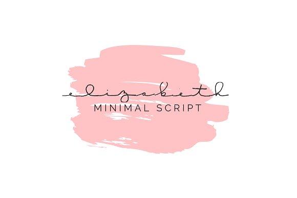 Elizabeth Minimal Font