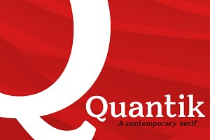Quantik - A Contemporary Serif