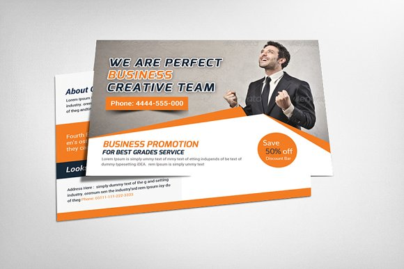Creative business postcard template card templates creative market creative business postcard template cheaphphosting Image collections