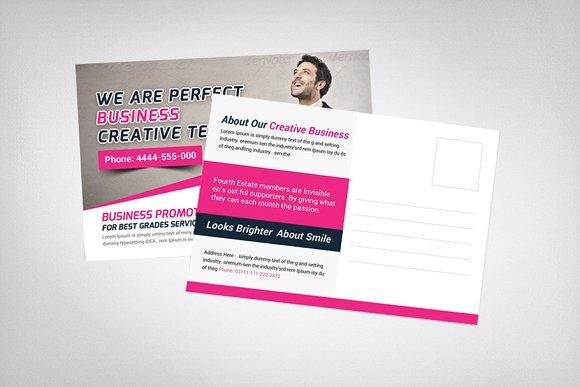 Creative Business Postcard Template Card Templates Creative Market
