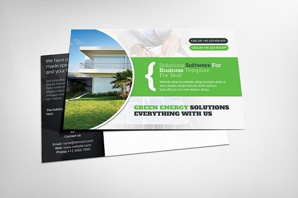 Green Energy Postcard Template