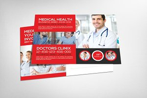 Medical Doctor Postcard Template