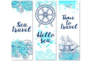 Marine Travel Backgrounds.
