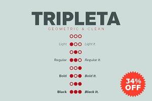 Tripleta Grotesk -8 fonts-