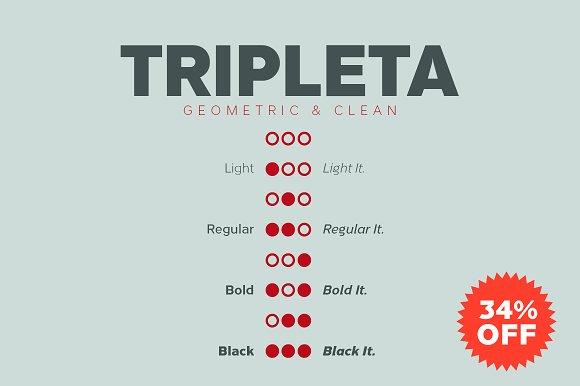 Tripleta Grotesk 8 Fonts-