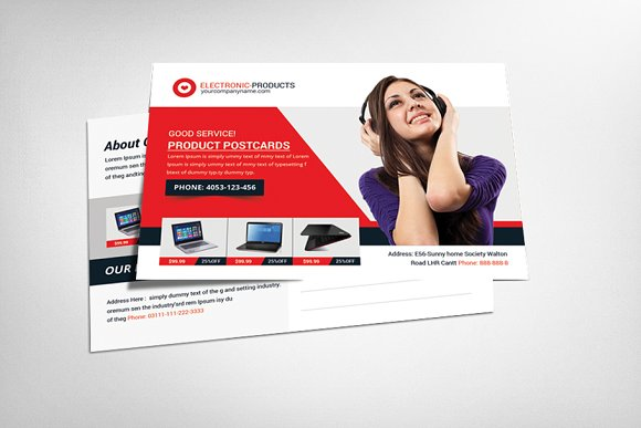 Shopping Product Postcard Templates